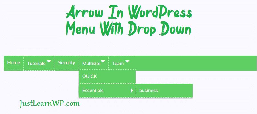 How To Add Arrow In WordPress Menu With Drop Down
