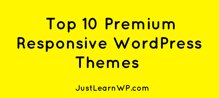 Top 10 Premium Responsive WordPress Themes 2019