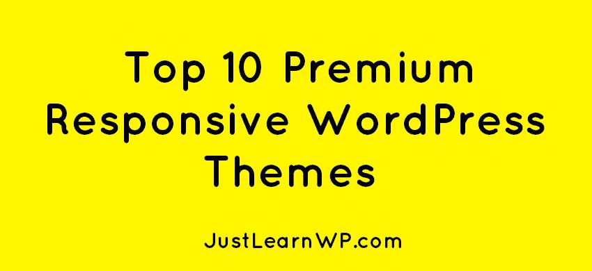 Top 10 Premium Responsive WordPress Themes 2019