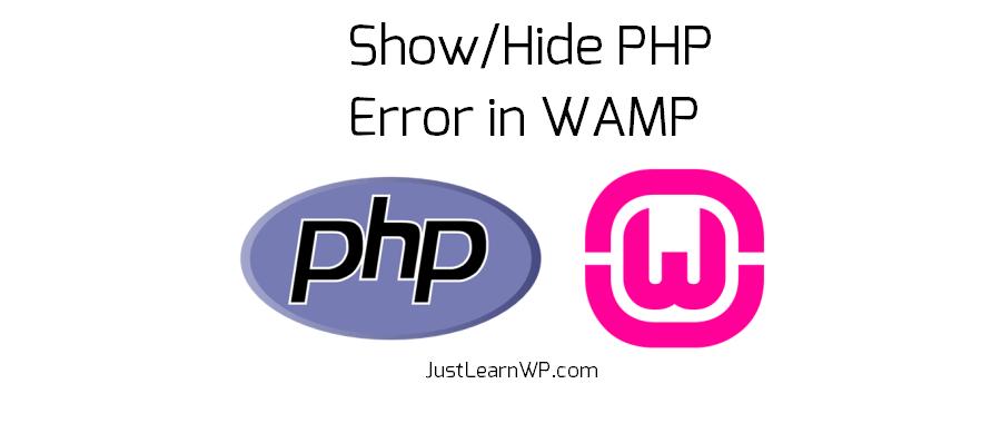 show-hide-php-error-wamp-server