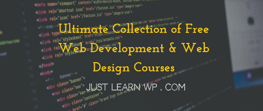 free web development web design courses online