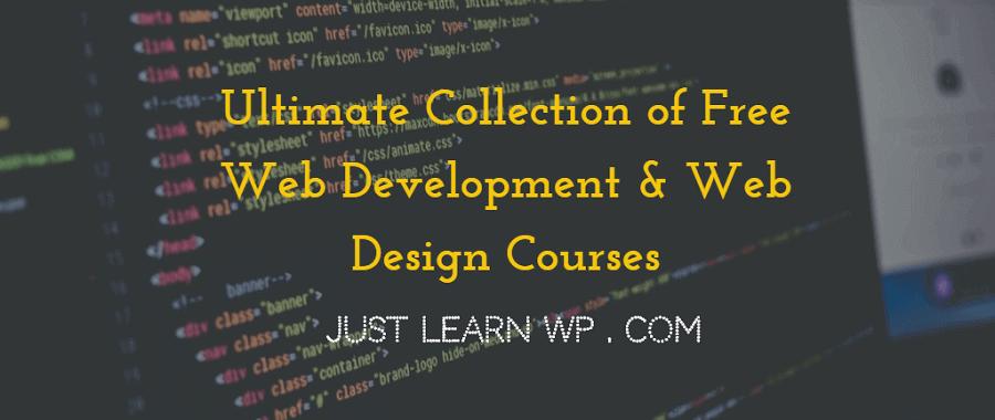free web development web design courses online