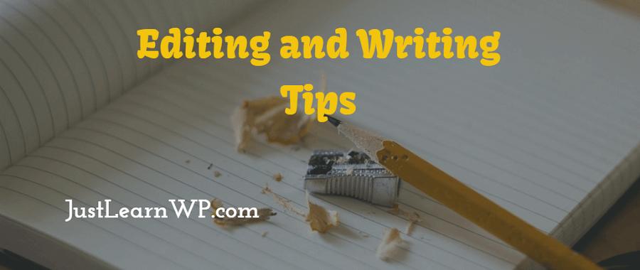editing writing tips