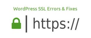wordpress ssl errors and fixes